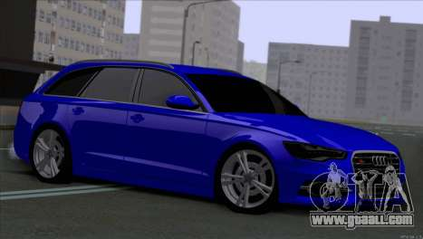 AUDI RS6 2014 for GTA San Andreas left view