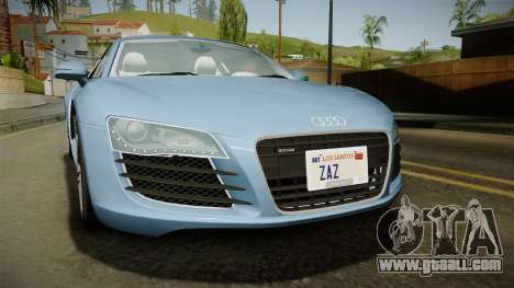 Audi R8 Coupe 4.2 FSI quattro EU-Spec 2008 YCH for GTA San Andreas inner view
