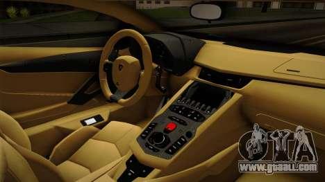 Lamborghini Aventador Itasha Rias Gremory for GTA San Andreas inner view