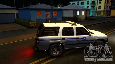 2004 Chevy Tahoe State Wildlife for GTA San Andreas left view