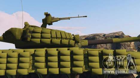 GTA 5 Tank T-72 right side view