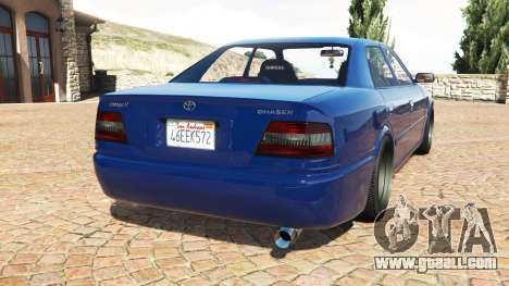 GTA 5 Toyota Chaser (JZX100) cambered v1.1 [add-on] rear left side view