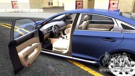 Hyundai Sonata 2016 for GTA San Andreas inner view