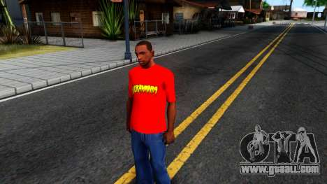 Hulk Hogan T-Shirt for GTA San Andreas