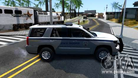 2015 Chevy Tahoe San Andreas State Trooper for GTA San Andreas back left view