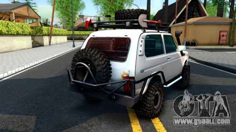 Lada Niva 4x4 Off Road for GTA San Andreas back left view