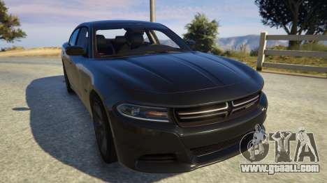 GTA 5 Dodge Charger 2016 back view