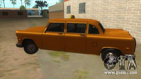 VC Cabbie Xbox for GTA San Andreas left view