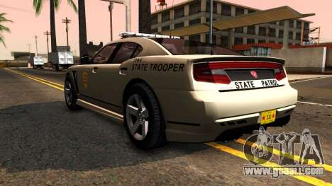 Bravado Buffalo 2012 Iowa State Patrol for GTA San Andreas back left view