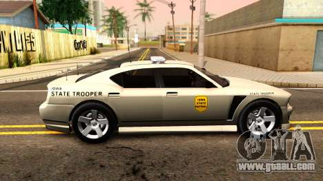 Bravado Buffalo 2012 Iowa State Patrol for GTA San Andreas left view