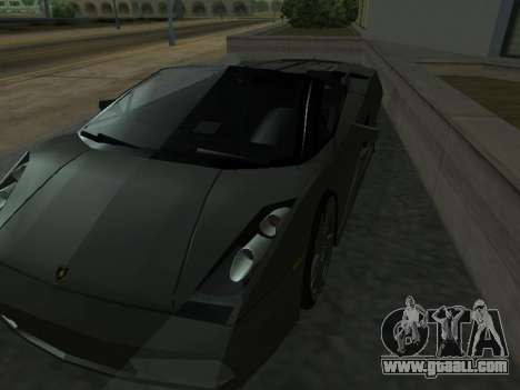 Lamborghini Galardo Spider for GTA San Andreas bottom view