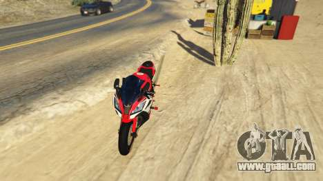 GTA 5 Kawasaki ZX6R Drag back view