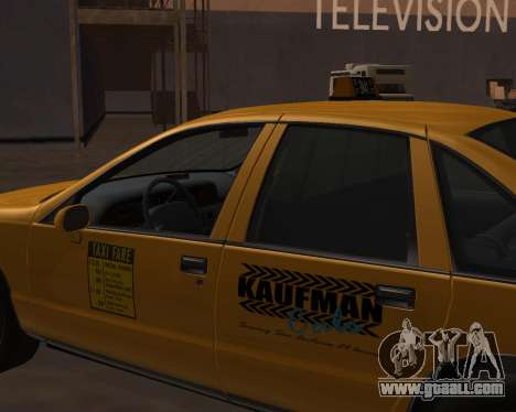 Chevrolet Caprice Taxi Kaufman for GTA San Andreas right view