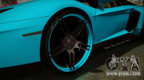 Lamborghini Aventador Itasha Rias Gremory for GTA San Andreas back view