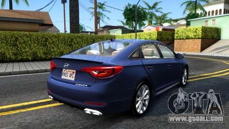Hyundai Sonata 2016 for GTA San Andreas back left view