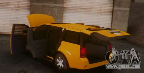 Nissan Pathfinder for GTA San Andreas back left view