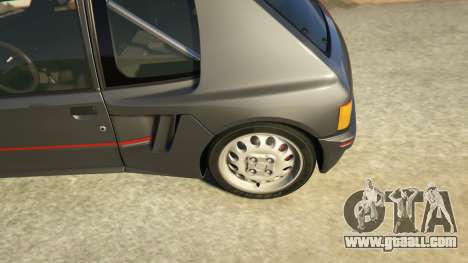 GTA 5 Peugeot 205 Rally rear right side view