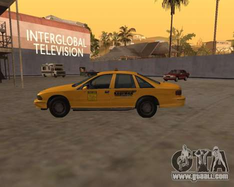 Chevrolet Caprice Taxi Kaufman for GTA San Andreas left view