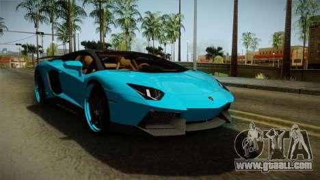 Lamborghini Aventador Itasha Rias Gremory for GTA San Andreas back left view