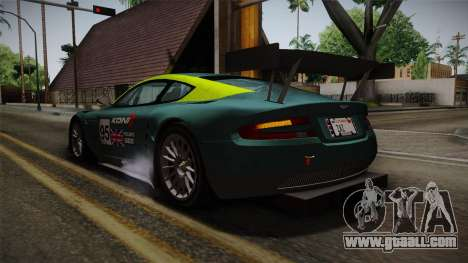 Aston Martin Racing DBRS9 GT3 2006 v1.0.6 YCH for GTA San Andreas wheels
