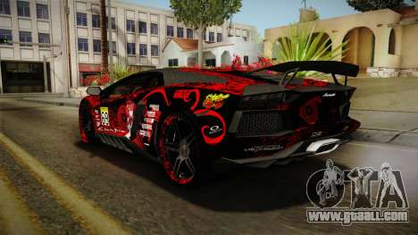 Lamborghini Aventador Itasha Rias Gremory for GTA San Andreas wheels