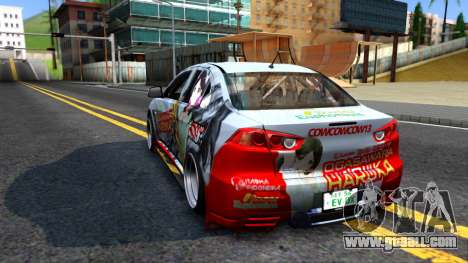 Ogasawara Haruka MITSUBISHI EVO X Itasha for GTA San Andreas back left view