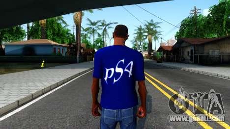 T-Shirt PS4 for GTA San Andreas third screenshot