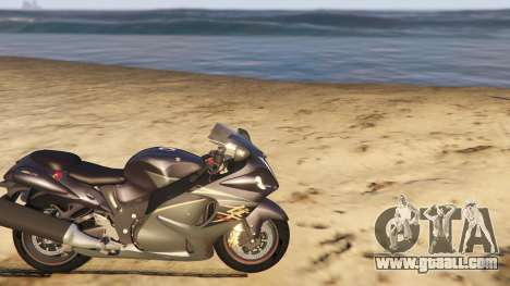 GTA 5 Suzuki Hayabusa GSX1300 2015 right side view