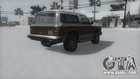 Rancher Winter IVF for GTA San Andreas left view