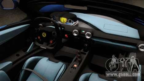 Ferrari LaFerrari Aperta 2017 for GTA San Andreas inner view