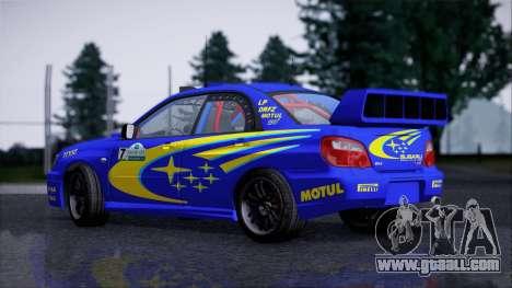 Subaru Impreza WRX STI WRC Rally 2005 for GTA San Andreas back left view