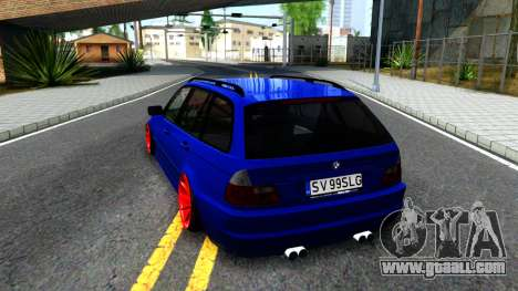 BMW E46 Touring Facelift for GTA San Andreas back left view