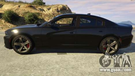 GTA 5 Dodge Charger 2016 left side view
