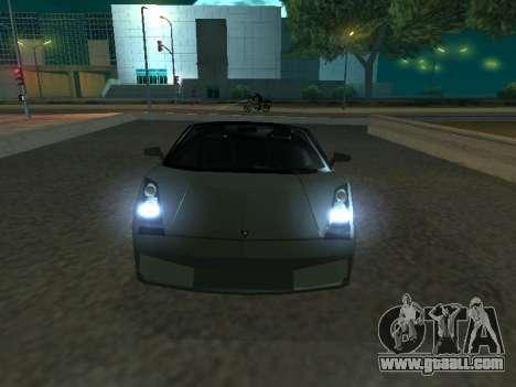 Lamborghini Galardo Spider for GTA San Andreas left view
