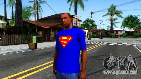 T-Shirt SuperMan for GTA San Andreas