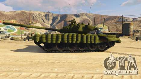 GTA 5 Tank T-72 left side view