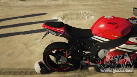 GTA 5 Kawasaki ZX6R Drag right side view