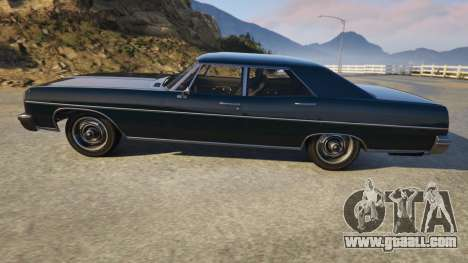 GTA 5 TLAD Regina Sedan left side view