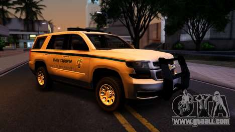 2015 Chevy Tahoe San Andreas State Trooper for GTA San Andreas inner view
