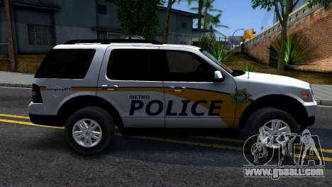 Ford Explorer Metro Police 2009 for GTA San Andreas left view