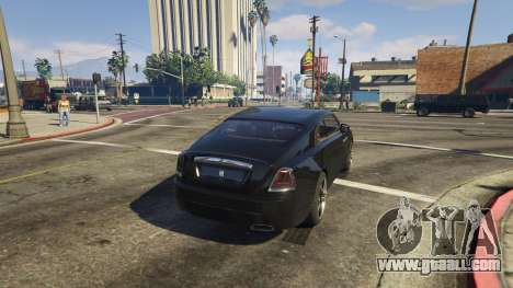 GTA 5 Rolls-Royce Wraith 2015 rear left side view