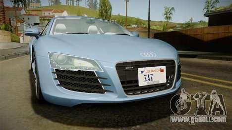 Audi R8 Coupe 4.2 FSI quattro EU-Spec 2008 YCH for GTA San Andreas side view