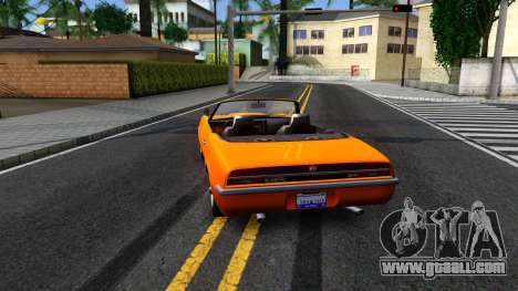 GTA V Declasse Vigero Retro Rim for GTA San Andreas back left view