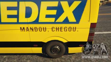 GTA 5 CORREIOS Sedex Mercedes Sprinter right side view