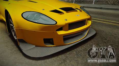 Aston Martin Racing DBRS9 GT3 2006 v1.0.6 Dirt for GTA San Andreas interior