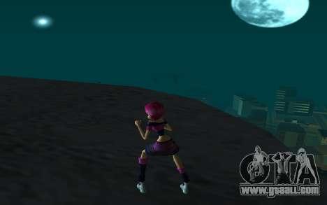 Tecna Rock Outfit from Winx Club Rockstars for GTA San Andreas third screenshot