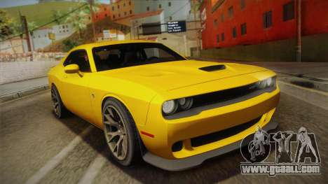 Dodge Challenger Hellcat 2015 for GTA San Andreas