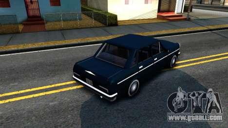 Perennial Sedan for GTA San Andreas back view