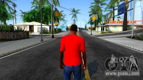 Hulk Hogan T-Shirt for GTA San Andreas third screenshot