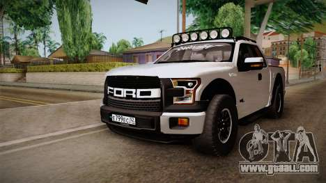 Ford Raptor for GTA San Andreas back left view